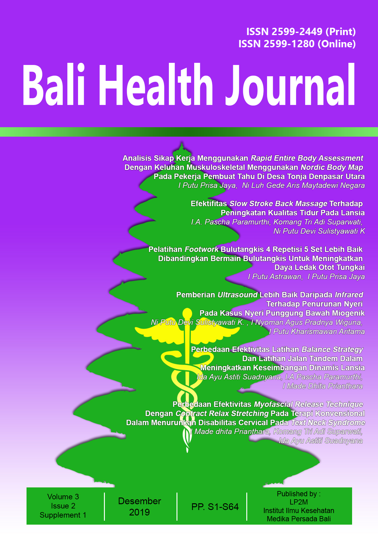 Bali Health Journal Volume 3 Issue 2 Supplement 1