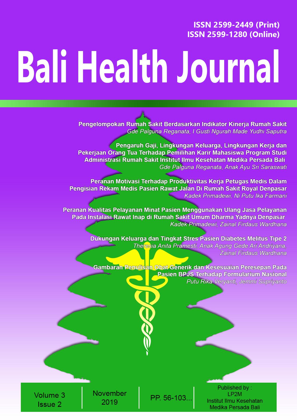 Bali Health Journal Volume 3 Issue 2